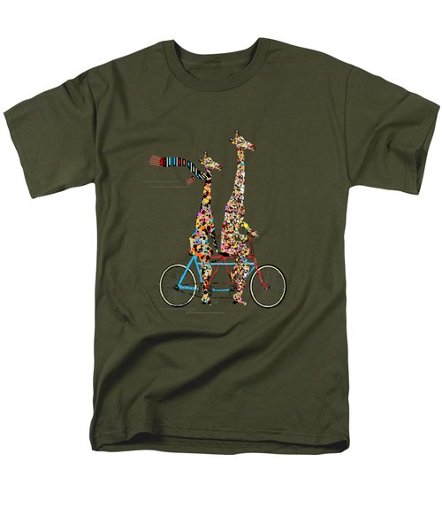 Giraffe Days Lets Tandem Men's T-Shirt  (Regular Fit) by Bri B