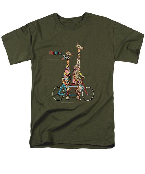 Giraffe Days Lets Tandem Men's T-Shirt  (Regular Fit)