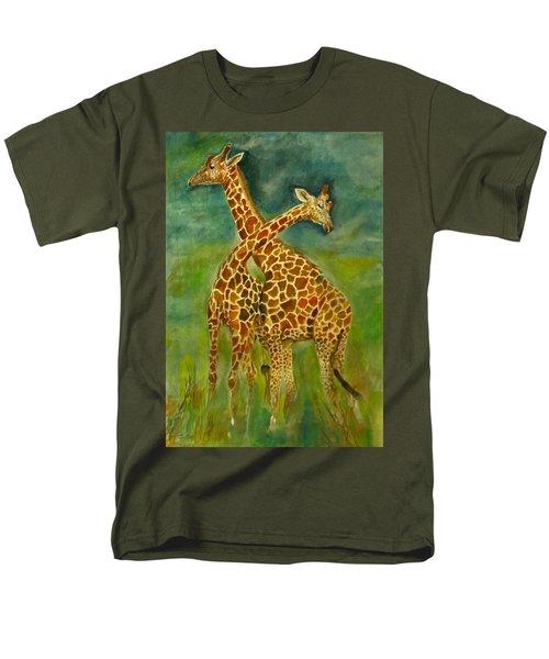 Lovely Giraffe . Men's T-Shirt  (Regular Fit) by Khalid Saeed