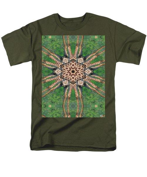 Giraffe Mandala II Men's T-Shirt  (Regular Fit) by Maria Watt
