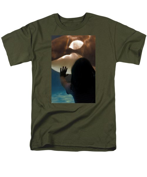 Men's T-Shirt  (Regular Fit) featuring the photograph Girl Vs Whale by Bob Pardue