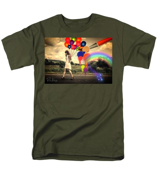 Girl Walking With Balloons #2 Men's T-Shirt  (Regular Fit) by Diana Riukas