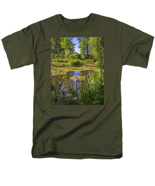 Men's T-Shirt  (Regular Fit) featuring the photograph Giverny France - Claude Monet's Pond  by Allen Sheffield