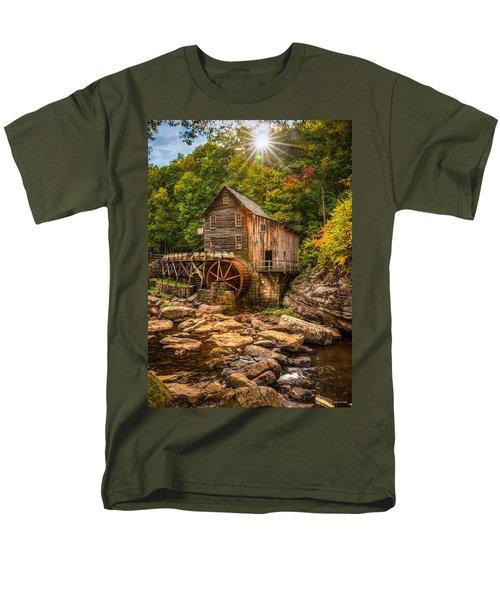 Men's T-Shirt  (Regular Fit) featuring the photograph Glade Creek Mill Fall by Rebecca Hiatt