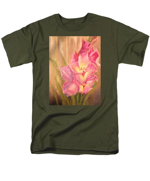Men's T-Shirt  (Regular Fit) featuring the painting Gladiolas by Sherril Porter