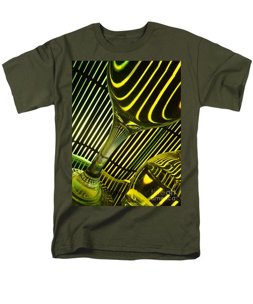 Men's T-Shirt  (Regular Fit) featuring the photograph Glasses And Lines by Trena Mara
