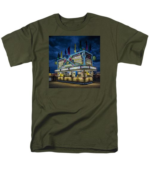 Glittering Concession Stand At The Colorado State Fair In Pueblo In Colorado Men's T-Shirt  (Regular Fit) by Carol M Highsmith