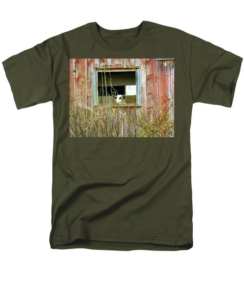Men's T-Shirt  (Regular Fit) featuring the photograph Goat In The Window by Donald C Morgan