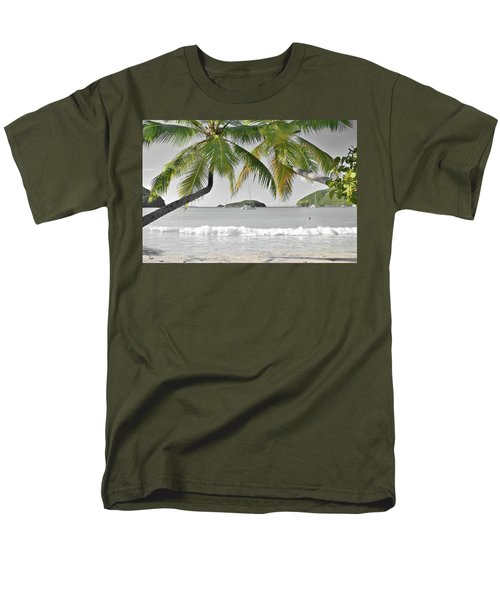 Men's T-Shirt  (Regular Fit) featuring the photograph Going Green To Save Paradise by Frozen in Time Fine Art Photography
