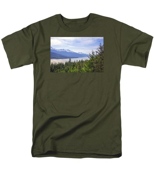 Going Up The Mountain Men's T-Shirt  (Regular Fit) by Allan Levin