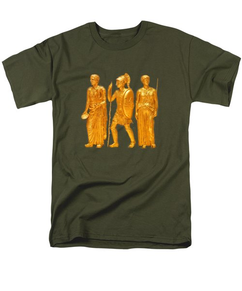 Men's T-Shirt  (Regular Fit) featuring the photograph Gold Covered Greek Figures by Linda Phelps