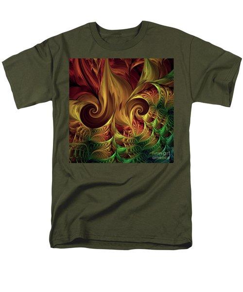 Men's T-Shirt  (Regular Fit) featuring the digital art Gold Curl by Deborah Benoit