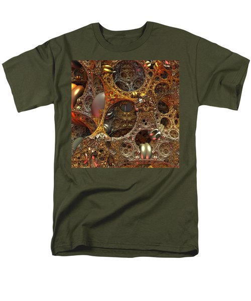 Men's T-Shirt  (Regular Fit) featuring the digital art Gold Mine by Lyle Hatch
