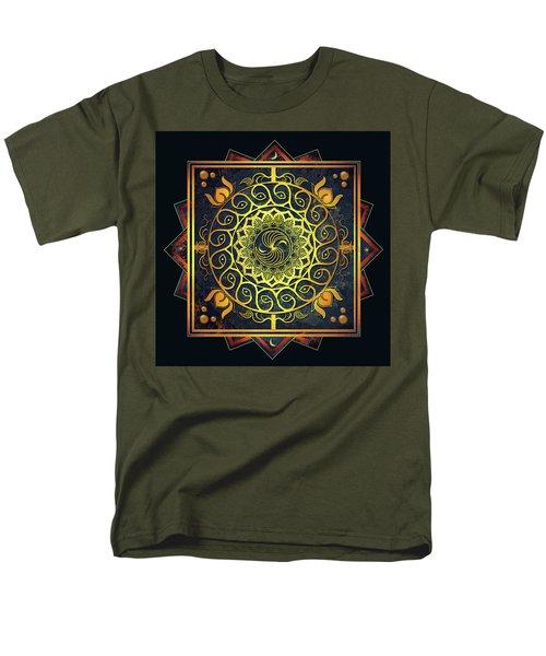 Golden Filigree Mandala Men's T-Shirt  (Regular Fit) by Deborah Smith