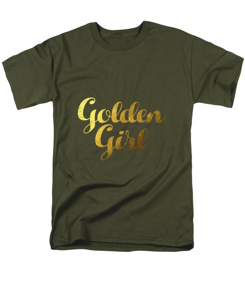 Golden Girl Typography Men's T-Shirt  (Regular Fit) by BONB Creative