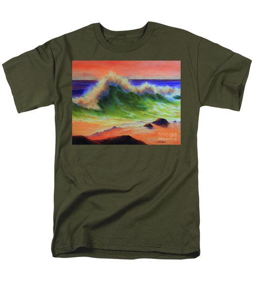Golden Hour Sea Men's T-Shirt  (Regular Fit) by Jeanette French