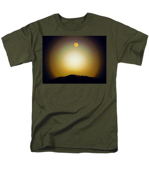 Men's T-Shirt  (Regular Fit) featuring the photograph Golden Moon by Joseph Frank Baraba