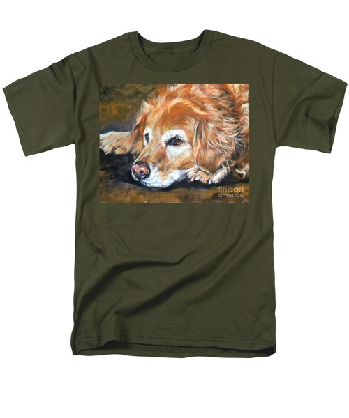 Golden Retriever Senior Men's T-Shirt  (Regular Fit) by Lee Ann Shepard