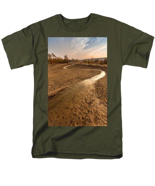 Men's T-Shirt  (Regular Fit) featuring the photograph Golden Stream by Davorin Mance