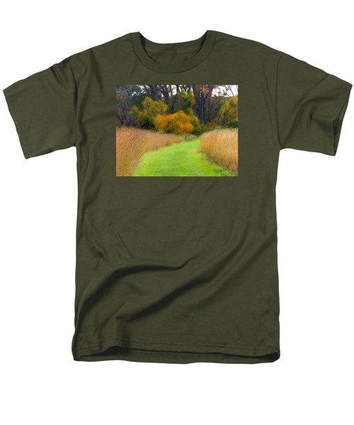 Golden Trail Men's T-Shirt  (Regular Fit) by Cedric Hampton