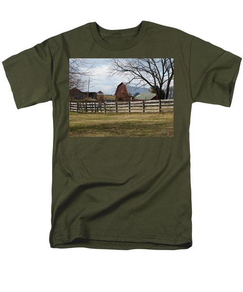 Men's T-Shirt  (Regular Fit) featuring the photograph Good Old Barn by Donald C Morgan