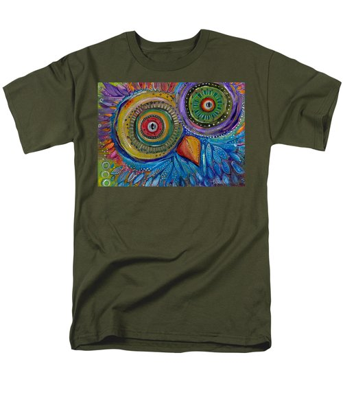 Googly-eyed Owl Men's T-Shirt  (Regular Fit) by Tanielle Childers