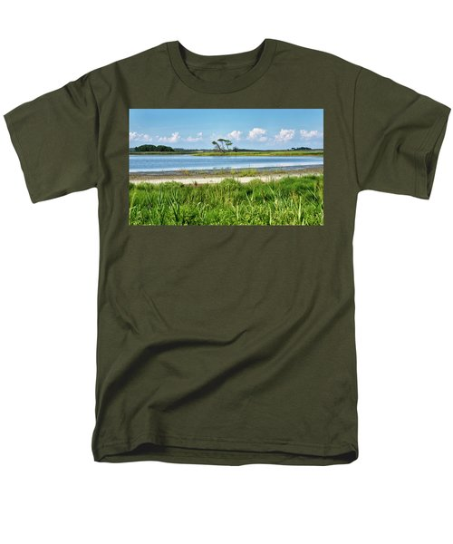Men's T-Shirt  (Regular Fit) featuring the photograph Gordons Pond - Cape Henlopen State Park - Delaware by Brendan Reals
