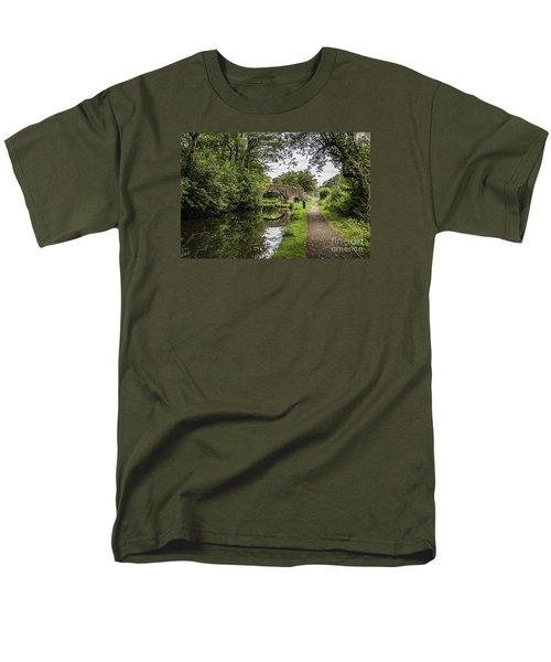 Goytre Wharf  Bridge Men's T-Shirt  (Regular Fit) by Steve Purnell