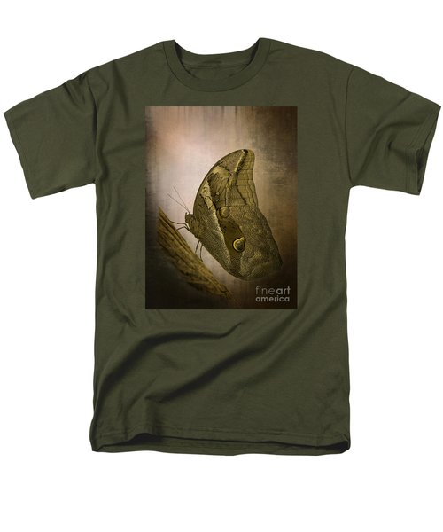 Men's T-Shirt  (Regular Fit) featuring the photograph Graffic Owl Butterfly by Inge Riis McDonald