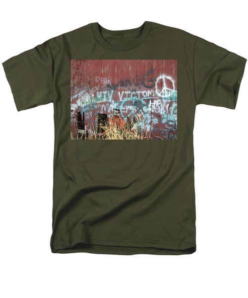 Men's T-Shirt  (Regular Fit) featuring the photograph Graffiti by Cynthia Lassiter