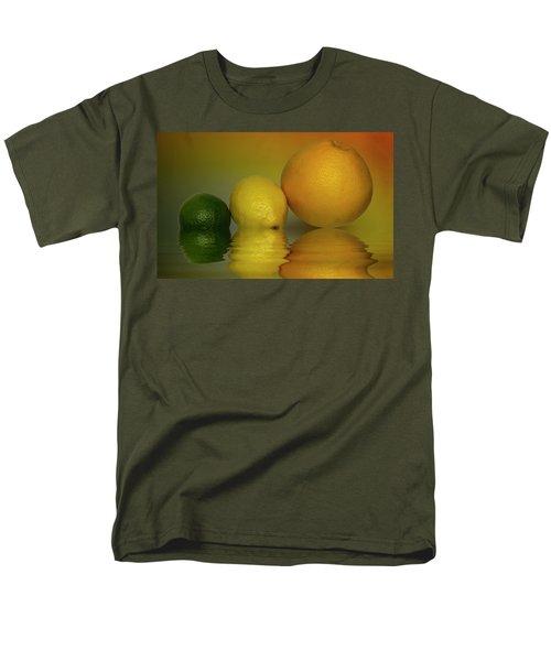 Men's T-Shirt  (Regular Fit) featuring the photograph Grapefruit Lemon And Lime Citrus Fruit by David French