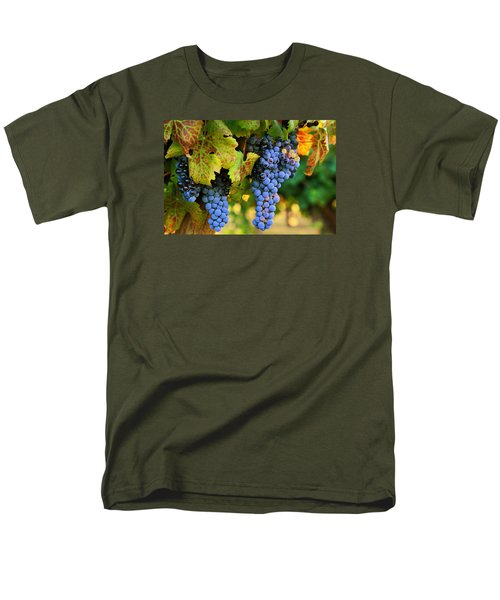 Men's T-Shirt  (Regular Fit) featuring the photograph Grapes Grapes Grapes by Lynn Hopwood