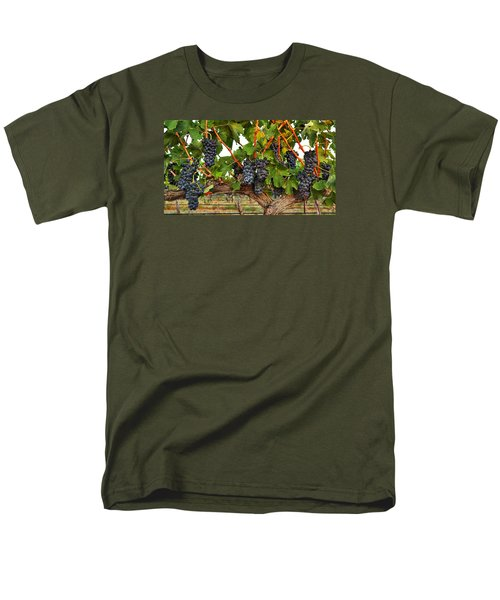 Men's T-Shirt  (Regular Fit) featuring the photograph Grapes Of The Yakima Valley by Lynn Hopwood