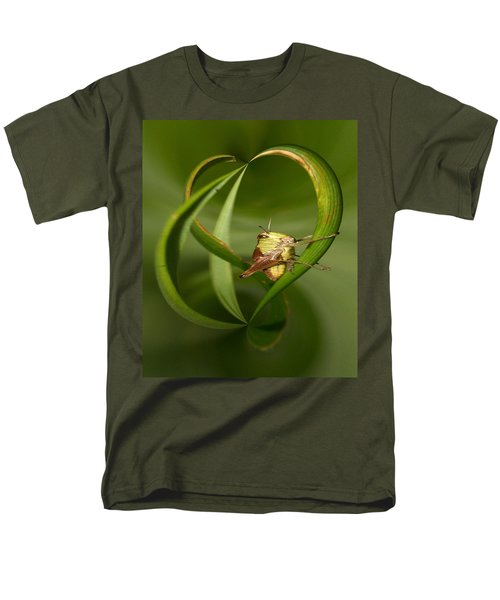Men's T-Shirt  (Regular Fit) featuring the photograph Grasshopper by Jouko Lehto