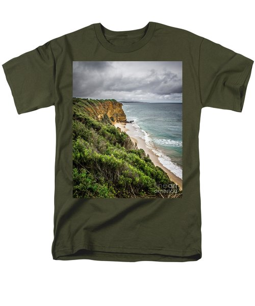 Men's T-Shirt  (Regular Fit) featuring the photograph Gray Skies by Perry Webster