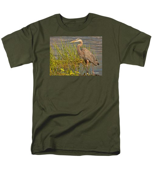 Great Blue At The Park Men's T-Shirt  (Regular Fit) by Don Durfee