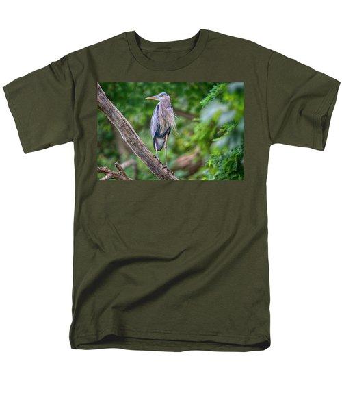 Great Blue Heron 2 Men's T-Shirt  (Regular Fit) by Gary Hall