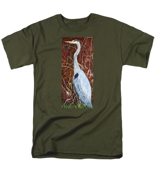 Great Blue Heron Men's T-Shirt  (Regular Fit) by Marilyn  McNish