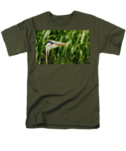 Men's T-Shirt  (Regular Fit) featuring the photograph Great Blue Heron Portrait by Debbie Oppermann