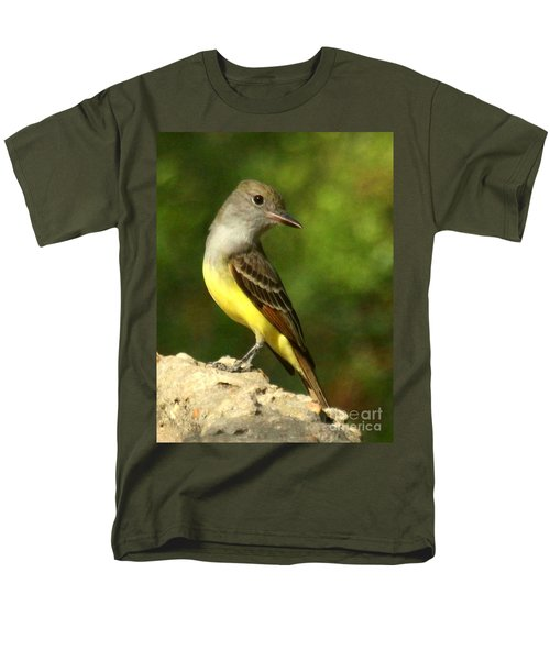 Men's T-Shirt  (Regular Fit) featuring the photograph Great Crested Flycatcher by Myrna Bradshaw