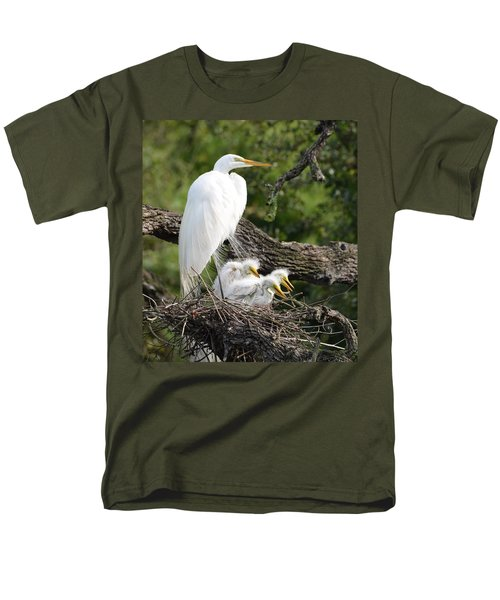 Great Egret Family  Men's T-Shirt  (Regular Fit) by Richard Bryce and Family