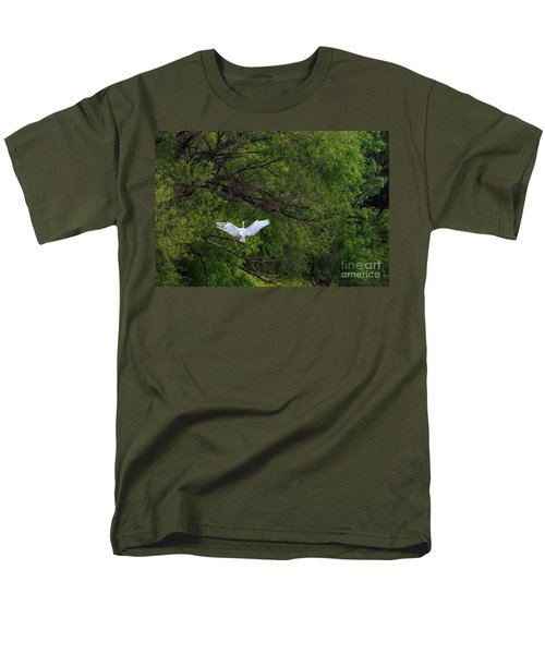 Great Egrets In The Shore Men's T-Shirt  (Regular Fit)
