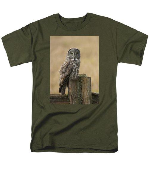 Great Gray Owl Men's T-Shirt  (Regular Fit) by Doug Herr