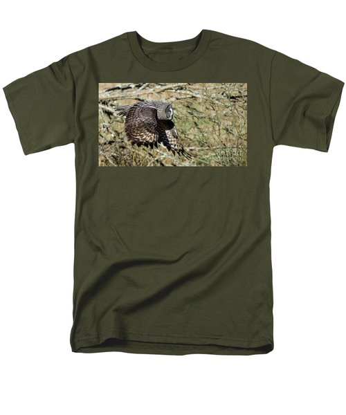 Great Grey Flying Men's T-Shirt  (Regular Fit) by Torbjorn Swenelius