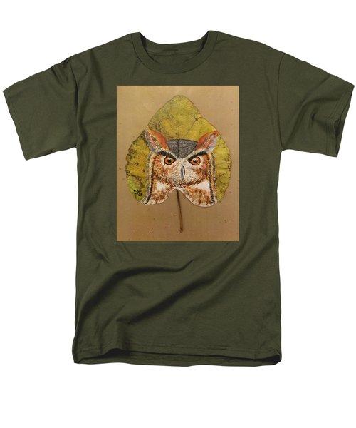Great Horned Owl Men's T-Shirt  (Regular Fit) by Ralph Root