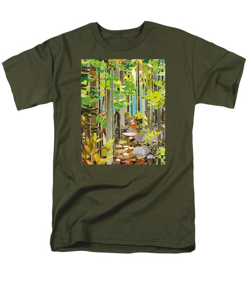Great Maine Woods Men's T-Shirt  (Regular Fit) by Robin Birrell