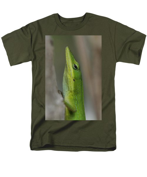 Men's T-Shirt  (Regular Fit) featuring the photograph Green Anole by Doris Potter