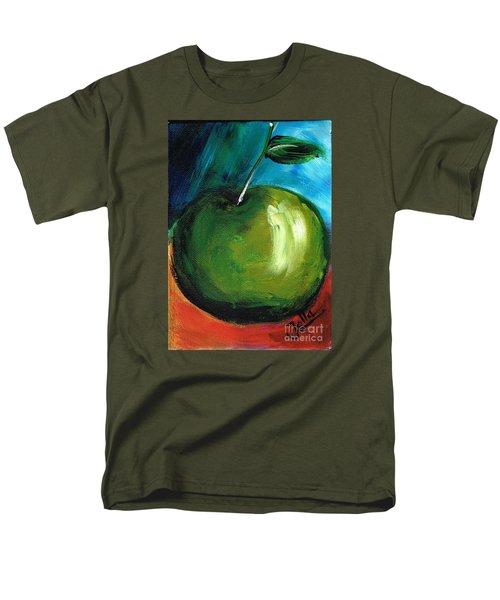 Men's T-Shirt  (Regular Fit) featuring the painting Green Apple by Jolanta Anna Karolska