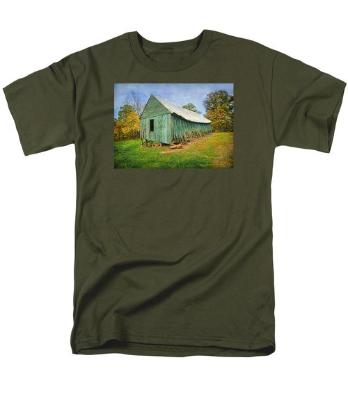 Men's T-Shirt  (Regular Fit) featuring the photograph Green Barn by Marion Johnson