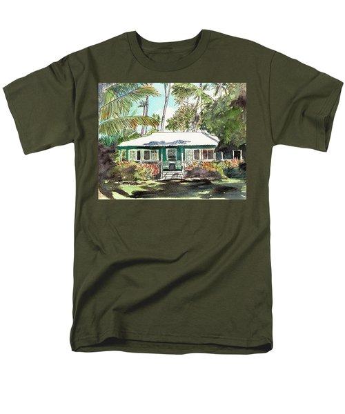 Green Cottage Men's T-Shirt  (Regular Fit)